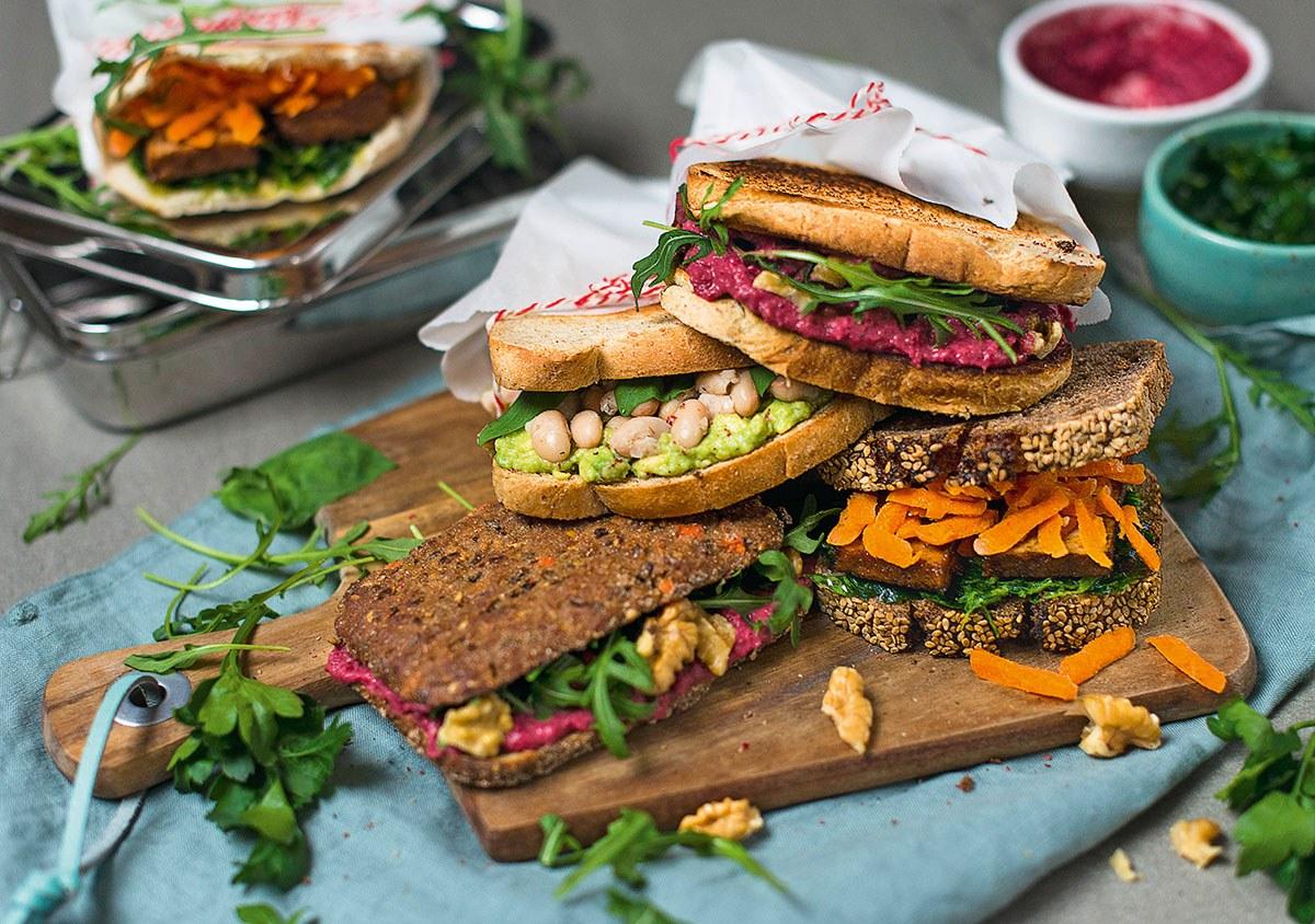 Leichte Vegane Sommerküche : Dreierlei vegane sandwiches u mio
